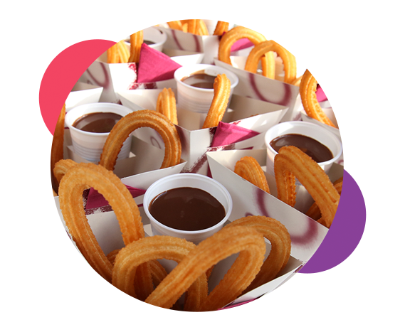 Detalle chocolate y churros