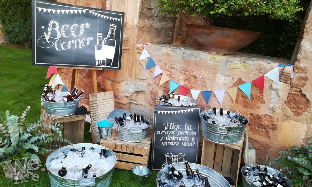 rincón de cerveza, decoracion de boda de we are