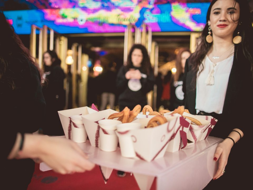 churros con chocolate para eventos, churros en foa2019